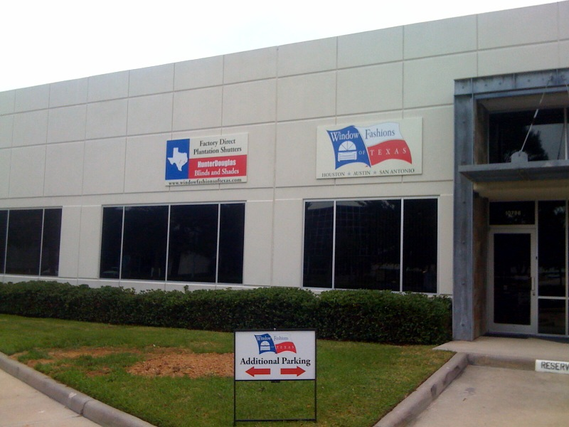 The outside of the new Window Fashions of Texas showroom in Houston